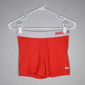 Nike Pro Dri-fit Pink Running Spandex Shorts